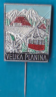 VELIKA PLANINA Ski Resort Cable Car Mountain Alpinism, Mountaineering, Edelweiss Slovenia Pin - Alpinism, Mountaineering