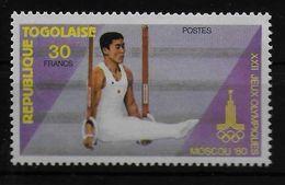 TOGO   N° 979   * *     Jo 1980  Gymnastique Anneaux - Gymnastics
