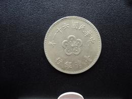 TAÏWAN : 1 YUAN   61 (1972)  Y 536     SUP - Taiwan