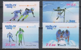 Olympics 2014 - Bobsleigh - KYRGYZSTAN - Set MNH - Winter 2014: Sotchi