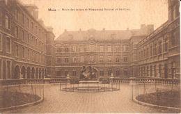 Mons - CPA - Mons - Ecole Des Mines Et Monument Guisbal Et Devillez - Mons