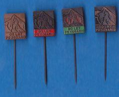 ALpine Association PD Kobarid Alpinism, Mountaineering Old Slovenia Pins - Alpinism, Mountaineering