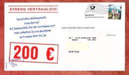 Infopost, Klingel Pforzheim, Schloss Neuschwanstein, Frankierwelle (54564) - BRD