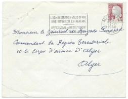 ENVELOPPE  / ALGER  GARE 1960 / MARIANNE DE DULAC - Algeria (1924-1962)