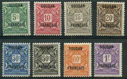Soudan (1921) Taxe N 1 à 8 * (charniere) - Soudan (1894-1902)