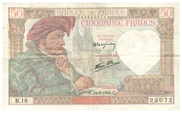 Billets >  France > 50 Francs 1940  Peu Commun - 1871-1952 Anciens Francs Circulés Au XXème