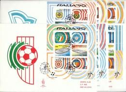1990 - MONDIALI DI CALCIO ITALIA90  Foglietti FDC VENETIA - F.D.C.