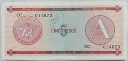 Billete Cuba. 5 Pesos. Serie A. 1985. Certificado De Divisa. Banco Nacional De Cuba. Sin Circular - Cuba