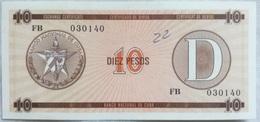 Billete Cuba. 10 Pesos. Serie D. 1985. Certificado De Divisa. Banco Nacional De Cuba. Sin Circular - Cuba