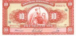 Peru P.84 10 Soles 1966 Unc - Peru