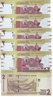 Sudan North - 5 Pcs X 2 Pounds 2011 UNC Ukr-OP - Sudan