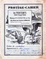 Protege Cahier Maison P FAYETTE Et Fils 26 Place  Des Bancs Limoges 87  Le Corbeau Et Le Renard - Book Covers