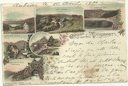 68 Cpa Gruss Des Vosges Litho Lac Blanc Noir Trois Epis Bonhomme  Schaefer Rain Honneck Schlucht - Other Municipalities