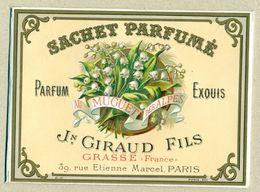 Sachet Parfumé Parfum Exquis Au Muguet Des Alpes Jean Giraud Fils GRASSE - En TB.Etat - Unclassified
