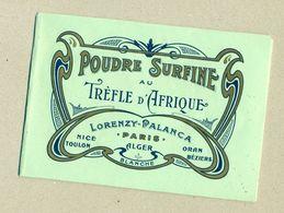 Sachet Parfum Poudre Surfine Au Trèfle D'Afrique Lorenzy-Palanca PARIS Nice Toulon Alger Oran Béziers - En TB.Etat - Unclassified