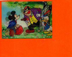 Walt DISNEY Productions En 3D - Vision Relief - Mickey Donald Pat  - Fantaisise - Carte à Système Made In Japan - Cartes Postales
