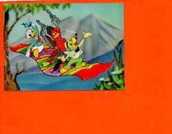 Walt DISNEY Productions En 3D - Vision Relief - Donald Three Riders -  - Fantaisise - Carte à Système) - Cartes Postales
