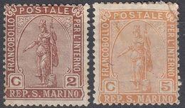 SAN MARINO - 1899 - Serie Completa Nuova MH Di Seconda Scelta: Yvert 32 E 33, Come Da Immagine. - San Marino