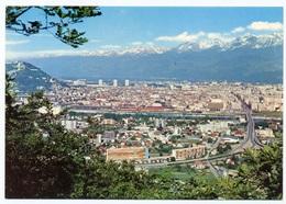 """{19206} 38 Isère Grenoble Vue Générale Et Chaîne De Belledonne.  """" En Baisse """" - Grenoble"""