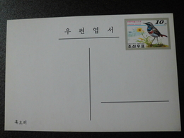 Postcard - Korea 2001 - Bird Luscinia Svecica / Bluethroat - Korea, North