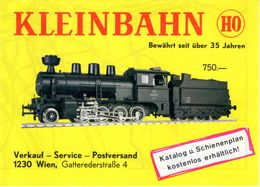 Catalogue KLEINBAHN Infoblatt 1982 Bewährt Seit über 35 Jahren  HO 1/87 - German