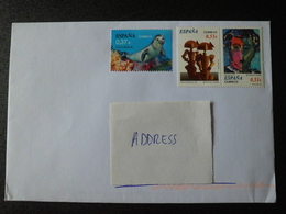 Spain Espana 2018 - Letter With 3 Stamps (Mediterranean Monk Seal - Contemporary Art : Painting And Sculpture) - 1931-Aujourd'hui: II. République - ....Juan Carlos I