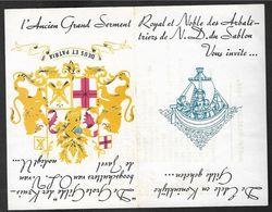 """Invitation De """"l'Ancien Grand Serment Royal Et Noble Des Arbalétriers De N.D. Du Sablon"""" Avec Programme De1964 (Lot 648) - Programs"""