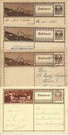 Ab 1927  8 Bildpostkarten Forchenstein (3 Nuancen), Gosausee (3 Nuancen), Feldkirch, Flexenstrasse - Entiers Postaux