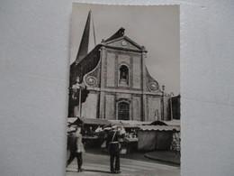 CPA CPSM CP PAS-DE-CALAIS 62 BOULOGNE-SUR-MER V1950 EGLISE SAINT-NICOLAS MARCHÉ PLACE DALTON GENDARME Gendarmerie GLOBE - Boulogne Sur Mer
