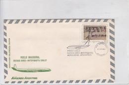 FIRST FLIGHT-AEROLINAS ARGENTINAS. BUENOS AIRES-ANTOFAGASTA CHILE. YEAR 1984 ARGENTINE- BLEUP - Poste Aérienne