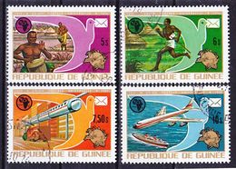 2017-0525 Guinea 1974 100 Years UPU Complete Set Mi 700-703 Used O - Post