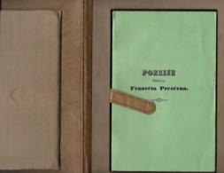 SLOVENIA, POEZIJE DOKTORJA  FRANCETA PREŠERNA,1972, REPRODUCIRANI PONATIS PRVE IZDAJE - Libri, Riviste, Fumetti