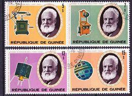 2017-0534 Guinea 1976 100 Years Telephone Complete Set Mi 754-757 Used O - Post