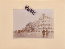 LOT DE 2 PHOTOS ANCIENNES,1880,BELGIQUE,OSTENDE,OOSTENDE,RARE,SUR LE MEME CARTON,RECTO VERSO - Places