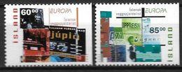 Islande 2003 N°966a/967a Neufs** Issus De Carnet Europa Art De L'affiche - Ungebraucht