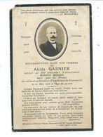 PAIRE PART De DECES. POILU Alcide GARNIER Soldat Du 304e RI Mort à L'Ambulance De MANONVILLE (54) En 1916 à 40 Ans - 1914-18
