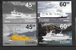 Islande 2003 N°962/965 Neufs**  Bateaux Ferries - 1944-... Republik