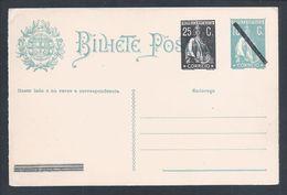 Raro Postal Stationery Ceres Com Sobrecarga Sobre 18c E 'resposta Paga'.Stationery Ceres With Overload 18c,answer Paid'. - Interi Postali