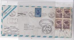 FIRST FLIGHT. 50 AÑOS DEL CCUCE DEL RIO DE LA PLATA POR TEODORO FELS BUENOS AIRES-CARRASCO.YEAR 1962 ARGENTINE- BLEUP - Airmail