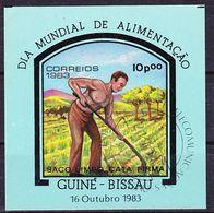 2017-0550 Guinea Bissau 1983 World Alimentation Day - Subsistance Farming Mi MS 256 Used O - Landwirtschaft