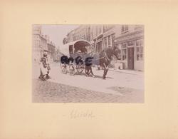 LOT DE 2 PHOTOS ANCIENNES,1880,BELGIQUE,MIDDELBOURG,RARE,SUR LE MEME CARTON,RECTO VERSO - Places