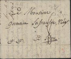 Belgique Département Conquis An 11 1802 97 Namur Taxe 8 Pour Lyon - Poststempel (Briefe)