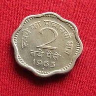 India 2 Naye Paise 1963 (B) KM# 11 Inde Indie - India