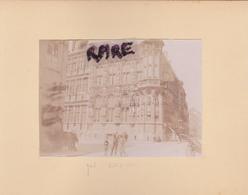 LOT DE 2 PHOTOS ANCIENNES,1880,BELGIQUE,GAND,GENT,RARE,SUR LE MEME CARTON,RECTO VERSO - Places