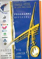 Programme Officiel De Tennis De Table à PARIS En 1999, Ping-pong, Stade COUTERTIN, 32 Pages, état Médiocre - Programs