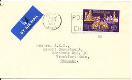 Uganda Cover Sent To Germany Nairobi 2-11-1962 Single Franked (the Cover Is Bended In The Left Side) - Oeganda (1962-...)