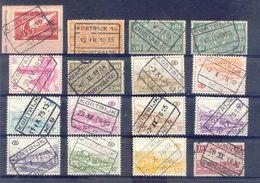 C009  Belgie Spoorwegen Chemin De Fer  Stempel KORTRIJK COURTRAI  32 STUKS - 1923-1941