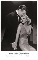 CLARK GABLE-JEAN HARLOW - Film Star Pin Up PHOTO POSTCARD - B2-2 Swiftsure Postcard - Postcards