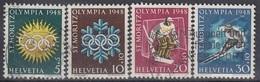 SWITZERLAND 492-495,used,falc Hinged - Winter 1948: St. Moritz