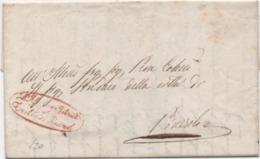 Piego Del 24.01.1844 Con Annullo Porefilatelico E Timbro Amministrativo Tribunale Di Prefettura Di Pinerolo (Torino) - Italy